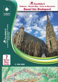Fietskaart Basel - Budapest | Huber Verlag - EuroVelo 6  | ISBN 9783943752441