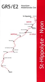 Wandelgids GR5 : Elzas / Jura - van St. Hippolyte  naar Nyon | De Wandelende Cartograaf