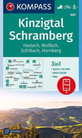 Wandelkaart Kinzigtal-Schramberg | Kompass 880  | 1:25.0000 | ISBN 9783990445990