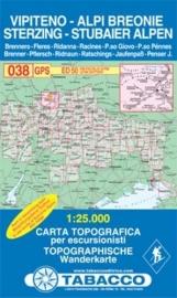 Wandelkaart Vipiteno - Albi Breoni  - Sterzing | Tabacco 38 | 1:25.000 | ISBN 9788883150388