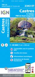 Wandelkaart Castres, Brassac, Vebre, PNR du Haut Languedoc | Languedoc | IGN 2343ET - IGN 2343 ET  | ISBN 9782758546443