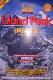 Wandelkaart / Klimkaart Island Peak 6189 meter | Nepa Maps | 1:50.000 - 1:11.236 | 9799993323006