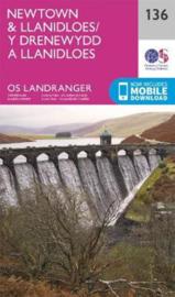 Wandelkaart Ordnance Survey | Newtown & Llanidloes 136 | ISBN 9780319263815