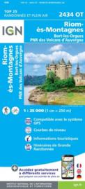 Wandelkaart Riom es Montagnes | PN Volcans D`Auvergne | IGN 2434 OT - IGN 2434OT