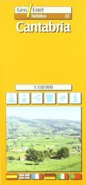 Wegenkaart - fietskaart Cantabria | GeoEstel No. T022 | 1:150.000 | ISBN 9788495788320