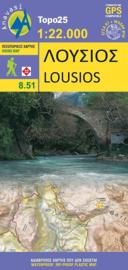 Wandelkaart  Lousios-Peloponnese | Anavasi 8.51 | 1:22.000 | ISBN 9789608195295