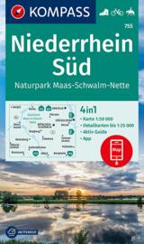 Wandelkaart Niederrhein Süd / Naturpark Maas-Schwalm-Nette   Kompass 755   1:50.000   ISBN 9783991210689