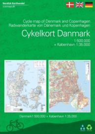 Fietskaart Denemarken en Kopenhagen | 1:500.000 | Scanmaps | ISBN 9788779671157