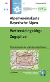Wandelkaart Wettersteingebirge - Zugspitze   DAV BY8   1:25.000   ISBN 9783948256098