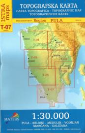 Wandelkaart Pula, Brijuni, Medulin, Vodnjan, Marčana - Istrië | Mateus Istra Map T-07 | 1:30.000 | ISBN 9789539500878