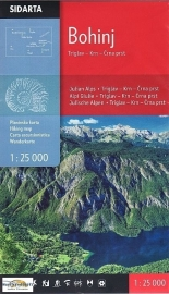 Wandelkaart Julische Alpen - Bohinj Triglav, Krn, Crna prst | Sidarta |  1:25.000 | ISBN 3830008646316