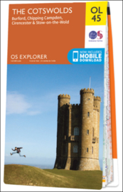 Wandelkaart Cotswolds | Ordnance Survey OLM 45 | ISBN 9780319242841