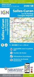 Topo-, wandelkaart Salles-Curan / Lac de Pareloup / Cassagnes / Begonhes |  IGN 2440SB | ISBN 9782758534280