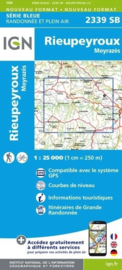 Topo-, wandelkaart Rieupeyroux / Moyrazès |  IGN 2339SB | ISBN 9782758535577