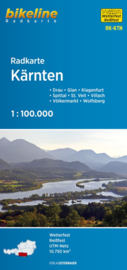 Fietskaart Karinthië (Oost & West) / Kärnten (Ost & West) | 1:100.000 | Bikeline | ISBN 9783850007207