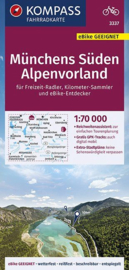 Fietskaart  Münchens Süden - Alpenvorland | Kompass 3337 | 1:70.000 | ISBN 9783990446584