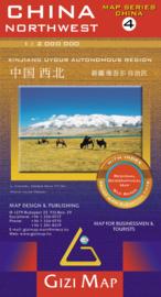 Wegenkaart China Noordwest 04 | Gizimap | 1:2 miljoen | ISBN 9789630080514