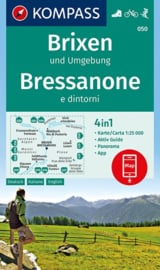 Wandelkaart Brixen - Bressanone | Kompass 050 | 1:25.000 | ISBN 9783990444771