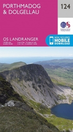 Wandelkaart Ordnance Survey | Porthmadog & Dolgellau 124 | ISBN 9780319262221