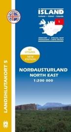 Wegenkaart - Fietskaart  Nordausturland / Noordoost IJsland 05 | 1:200 000 | Mal og menning | ISBN 9789979333807