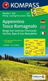 Wandelkaart Appennino Tosco Romagnola |  Kompass 2453 | 1:50.000 | ISBN 9783850266000