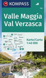 Wandelkaart Valle Maggia - Val Verzasca | Kompass 110 | 1:40.000 | ISBN 9783850269100
