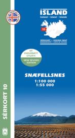 Wandelkaart Snæfellsnes - IJsland nr. 10 | Mal og Menning | ISBN 9789979330417