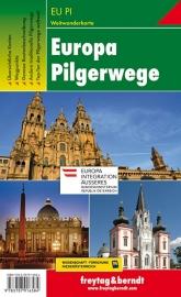 Wegenkaart - Overzichtskaart Europese Pelgrimspaden | Freytag & Berndt | ISBN 9783707916584