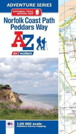 Wandelatlas Norfolk Coast Path & Peddars Way| A-Z Maps | 1:25.000 | ISBN 9781782571919