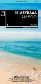 Wandelkaart - Wegenkaart Lefkada | Terrain Maps 351 | 1:40.000 | ISBN 9789606845727