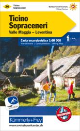 Wandelkaart Tessin - Sopraceneri 26 | Kümmerley & Frey | 1;60.000 | ISBN 9783259022269