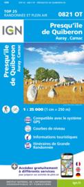 Wandelkaart 0821OT - 0821 OT Presqu`Ile de Quiberon - Auray - Carnac | Bretagne | ISBN 9782758551454