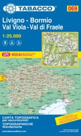 Wandelkaart Livigno / Bormio / Passo del Bernina l | Tabacco 69 | 1:25.000 | ISBN 9788883151156