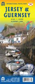 Wegenkaart Jersey - Guernsey - Sark - Alderney (Kanaaleilanden) |1: 18.000 |  ITMB | ISBN 9781771293877