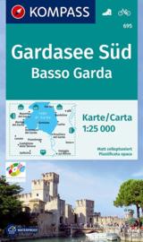 Wandelkaart Garda Süd - Basso Garda | Kompass 695 | 1:25.000 | ISBN 9783850265386