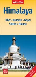 Wegenkaart Himalaya: Tibet, Kashmir, Nepal, Sikkim, Bhutan | Nelles | 1:1,5 miljoen | ISBN 9783865742704