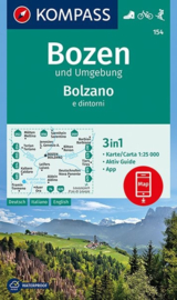 Wandelkaart Bozen und Umgebung : Bolzano e dintorni | Kompass 154 | 1:25.000 | ISBN 9783990445549