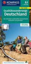 Wandelkaart Lange-Afstandswandelpaden Duitsland | Kompass 2561 | 1:550.000 | ISBN 9783990448168
