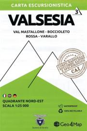 Wandelkaart  Valsesia Val Mastallone | Geo4Map kaart 3 | 1:25.000 | ISBN 9788899606114