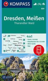 Wandelkaart  Dresden - Meissen | Kompass 809 | 1:50.000 | ISBN 9783990444887