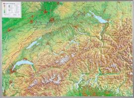 Wandkaart Zwitserland 3D Relief | GeoRelief | 1:500.000 | ISBN 4280000002280