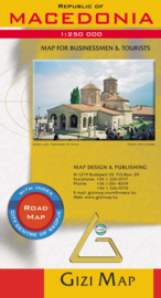 Wegenkaart Macedonia | Gizi Map |  1:250.000 | ISBN 9789630296670