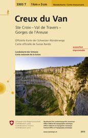 Wandelkaart  Creux du Van | Bundesamt 3303T |  ISBN 9783302333038