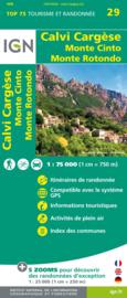 Wandelkaart - Fietskaart Calvi - Cargesse - Mt Cinto - Mte Rotondo  | IGN Nr. 29 | 1:75.000 | ISBN 9782758547839