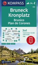 Wandelkaart Bruneck Kronplatz | Kompass 045 | 1:25.000 | ISBN 9783990446188