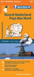 Wegenkaart Nederland Noord   Michelin   1:200.000   ISBN 9782067183360