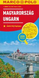 Wegenkaart Hongarije | Marco Polo | 1:300.000| ISBN 9783829738491