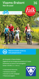 Fietskaart  Vlaams-Brabant met Brussel 36 | Falk | ISBN 9789028727922