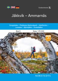 Wandelkaart Jäkkvik - Ammarnäs - outdoor fjall 05 | Norsteds | 1:75.000 | ISBN 9789113105024