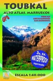 Wandelkaart Toubkal, Hoge Atlas - Marokko | Piolet 1: 40.000 | ISBN 9788495945426